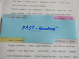 Leseschablone Easy Reading