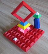 Regenbogen-Pyramide + Legeplatte