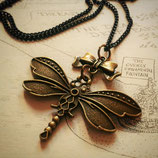 Steampunk Lolita Style Dragonfly Necklace