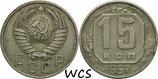 Soviet Union 15 Kopeks 1957 Y#124 VF