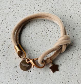 Armband Jandia Samt Beige-Rosé