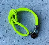Armband Jandia Nappaleder Neongelb-Silber