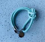 Armband Jandia Nappaleder Pastelltürkis-Silber