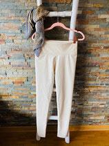 Legging in Lederoptik Farbe Beige