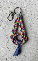 Schlüsselanhänger Segeltau Rainbow