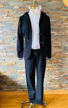 Lässig stretchige Hose in Schwarz im Chino-Style