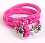 Ankerliebe Pink/Silber
