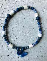 Hunde-Zecken-Halskette Nachtblau