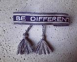 Webarmband Dunkelblau/Be different