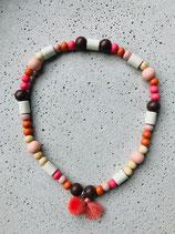 Hunde-Zecken-Halskette Schoko mit Caramel