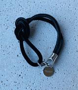 Armband Jandia Samt Schwarz-Silber