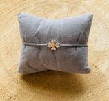 Armband Glückskleeblatt Verbinder Silber