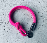 Armband Jandia Samt Pink-Silber