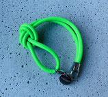 Armband Jandia Nappaleder Neongrün-Silber