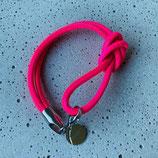 Armband Jandia Nappaleder Neonpink-Silber