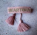 Webarmband Altrosa/Heartbeat