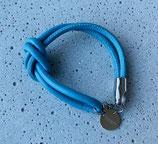 Armband Jandia Nappaleder Stahlblau-Silber