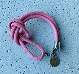 Armband Jandia Nappaleder Rosa-Silber