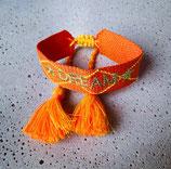 Webarmband Orange/Dream