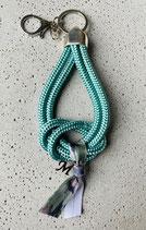 Schlüsselanhänger Segeltau Seegras mit 1 Buchstaben
