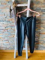 Legging in Lederoptik Farbe Schwarz