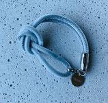 Armband Jandia Samt Grau-Silber