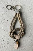 Schlüsselanhänger Segeltau Tan mit 1 Buchstaben