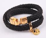 Cadzand gold Kunstseide schwarz