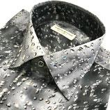 Seidenhemd, RAINDROPS, grau