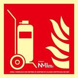 Placa señaliación carro extintor