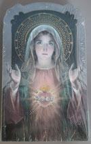 イタリア ご絵 CLARA 22 12.5×7.5センチ 大判飾り縁箔押し 紙裏白