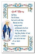 イタリア 羊皮紙 奇跡のマドンナ(無原罪) 英語祈りカード 6840