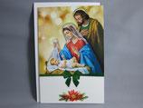 イタリア製 クリスマスカード 定型 聖家族0658-2C1619