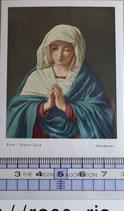 ご絵 聖母マリア 絵画 A-3 THE VIRGIN ADDRATION(無原罪の礼拝)