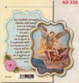 イタリア FB  祈りカードステッカー AD-330 大天使ミカエル 6×8センチ