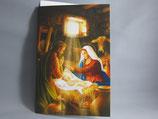 イタリア製 クリスマスカード 定型 聖家族 0602-1