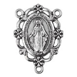 ロザリオ製作用5 無原罪の聖母 シルバー 花