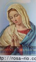 ご絵 手判 聖母マリアJ C-61 14×9センチ 紙裏白