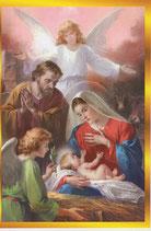 イタリア製 クリスマスカード 定型 聖家族と天使 220-11