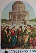 ご絵 紙裏白 15×10.5センチ アートF-13 ラファエロ 聖母の結婚