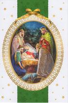 イタリア製 クリスマスカード 定型 聖家族と三賢人 220-9