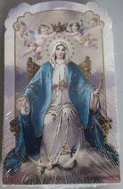 イタリア ご絵 CLARA 42 12.5×7.5センチ 大判飾り縁箔押し 紙裏白