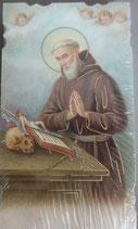 イタリア ご絵 Eucaristina ウラビーノの聖ベネディクト 聖ベネディクト修道院長 030 10.7×6センチ 飾り縁箔押し 紙裏白