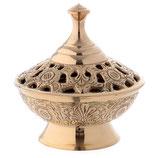 香炉 金メッキ真鍮製お香バーナーH 4 1/4インチ BI000051