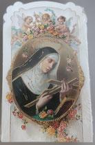 イタリア ご絵 CLARA 28 12.5×7.5センチ 大判飾り縁箔押し 紙裏白