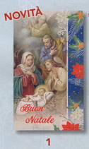 FB  NATALE   イタリア製 金箔押ご絵 裏白紙 7×12センチ 379-999-1
