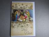 イタリア製 クリスマスカード 定型 馬小屋 C1621