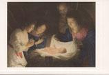 イタリア・ミラノ クリスマスカード 定型 ゲラルド デラ ノッティ L'ADORAZIONE DEL BAMBINOc1603