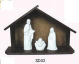 日本製 陶器 聖家族SD33