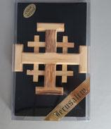 ネコポス不可 イスラエル エルサレム オリーブ エルサレムクロス 12×12センチ 厚13ミリ  1910-55
